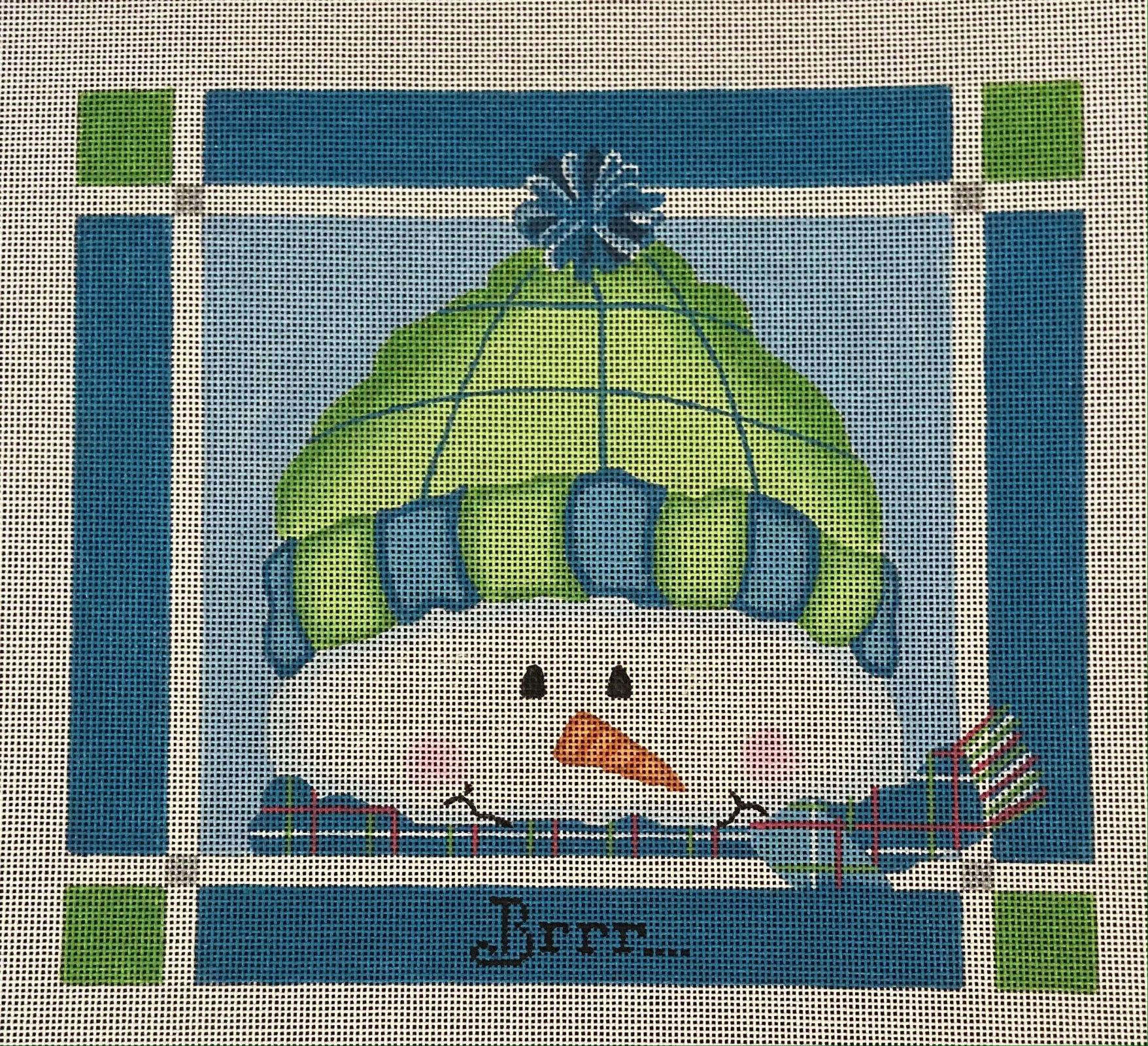 Brrr... Green & Blue Snowman