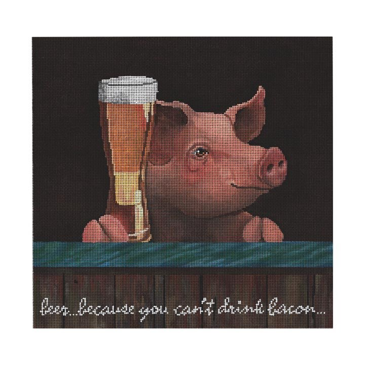 Pig with Beer