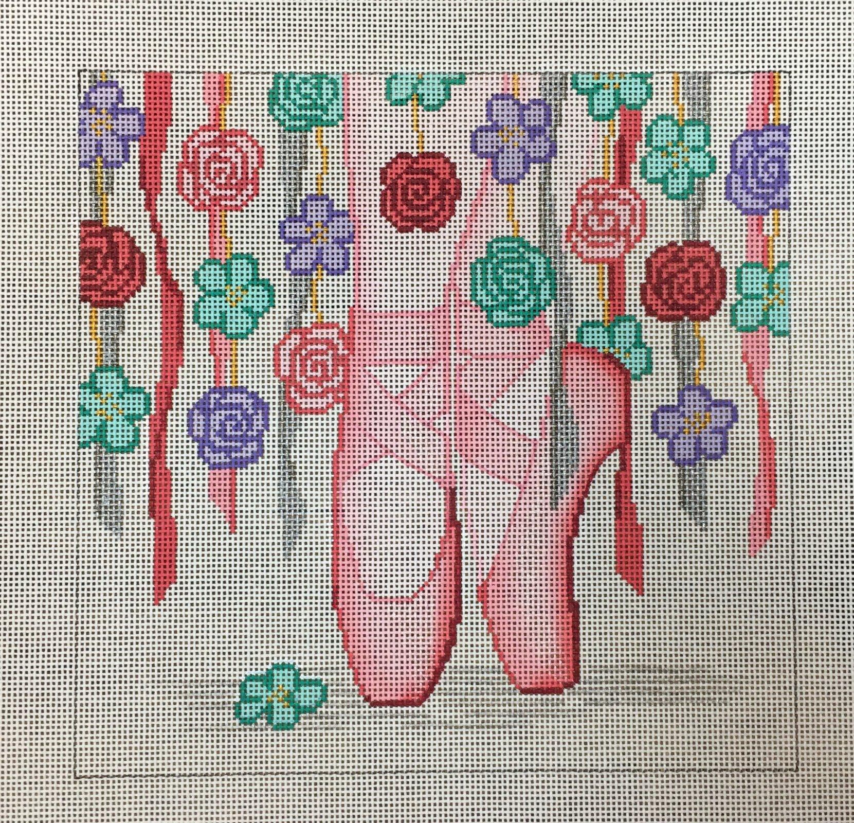 Ballet Slippers & Flowers