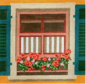 Window - Geraniums