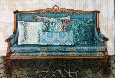 Teal Couch