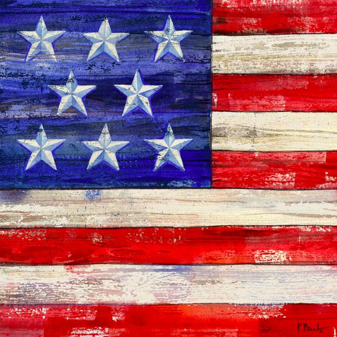 American Flag Coaster I