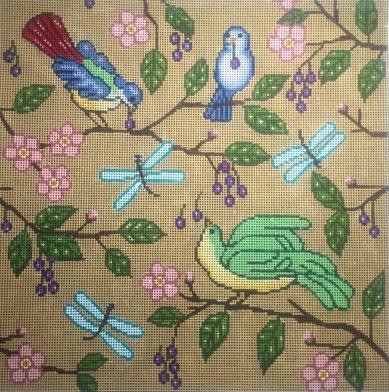 Birds Pillow - 13 mesh