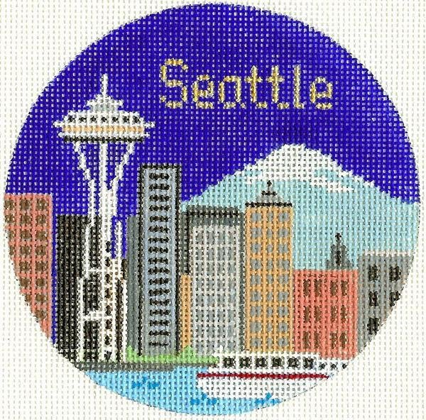 Seattle Round Ornament