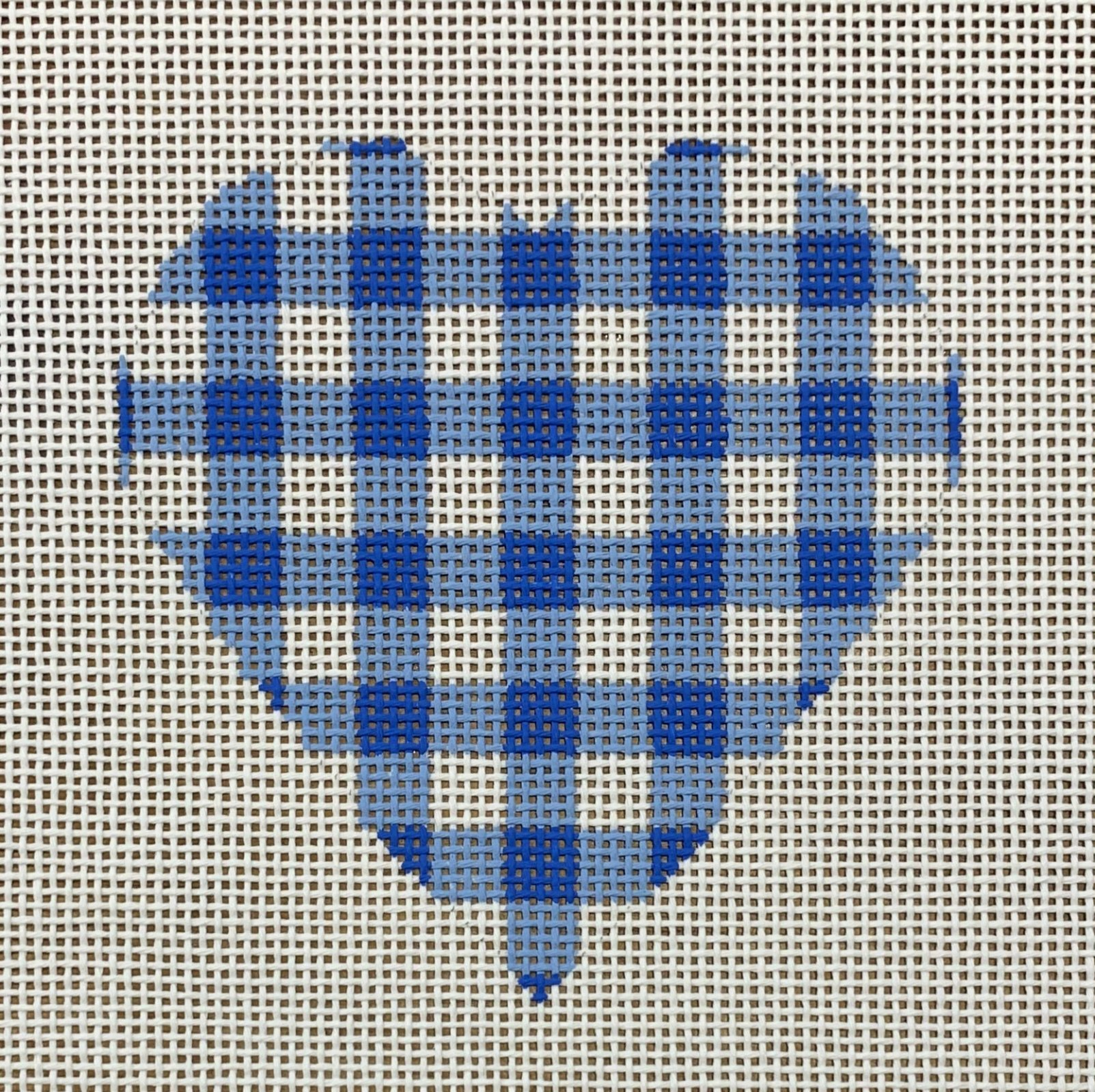 Small Blue Gingham Heart