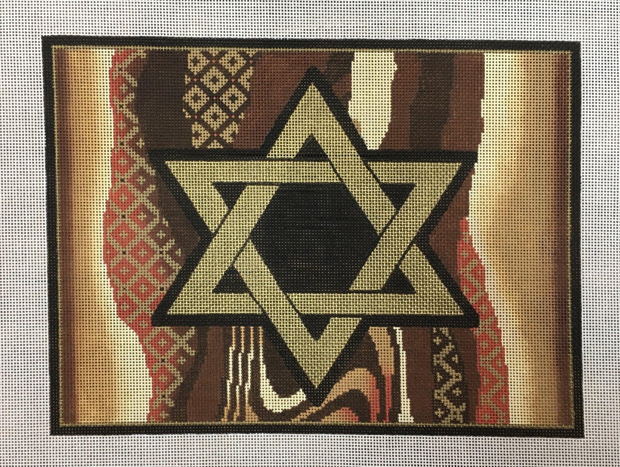 Brown Pattern Tallis Bag