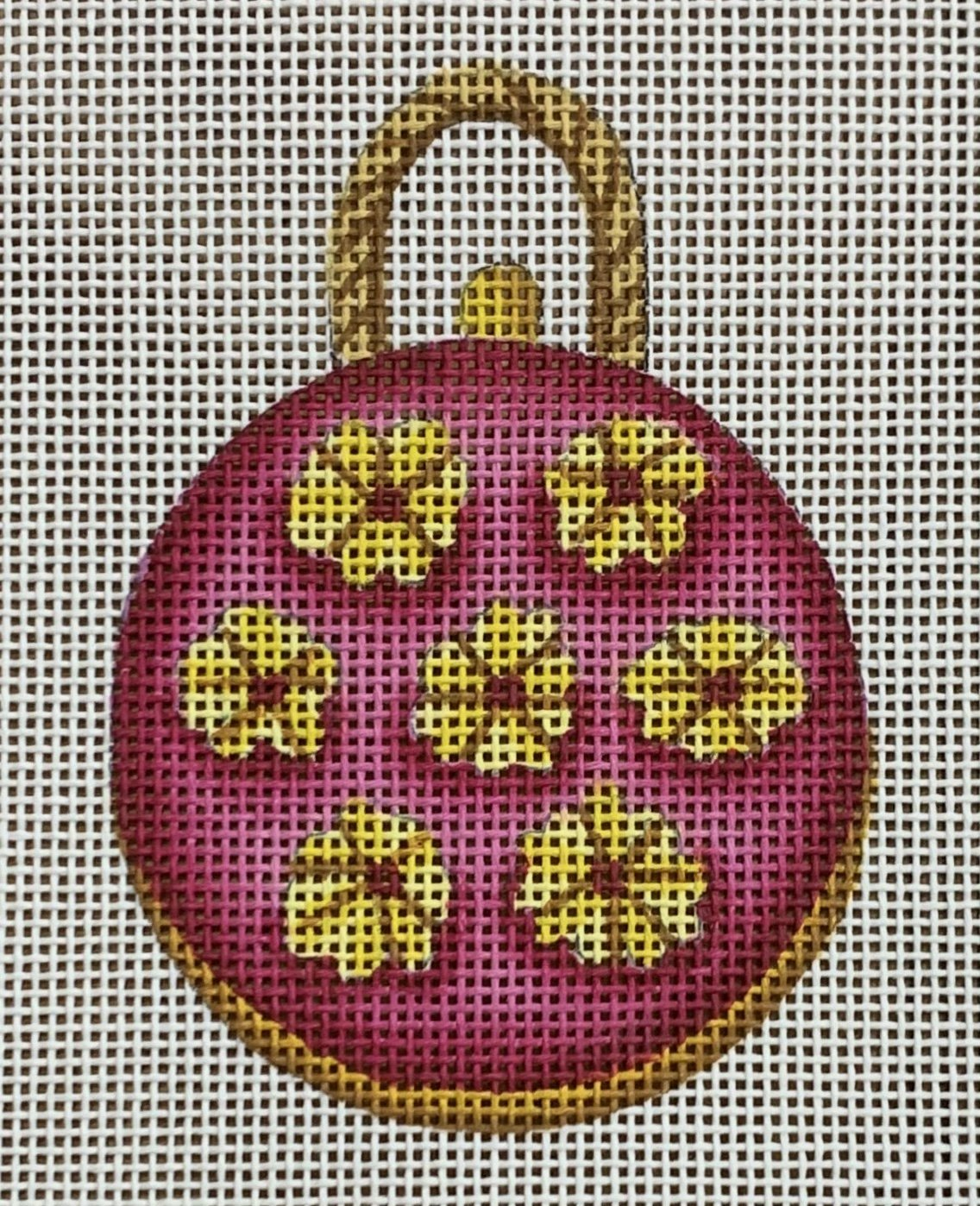 Round Bag with Daisies w/ Stitchguide