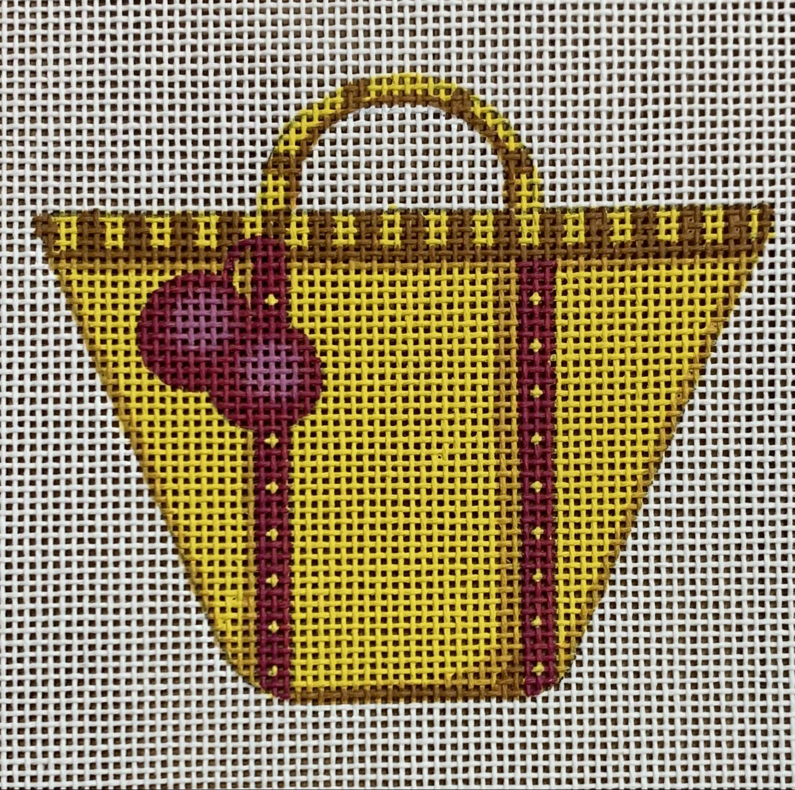 Tote with Pompoms w/ Stitchguide