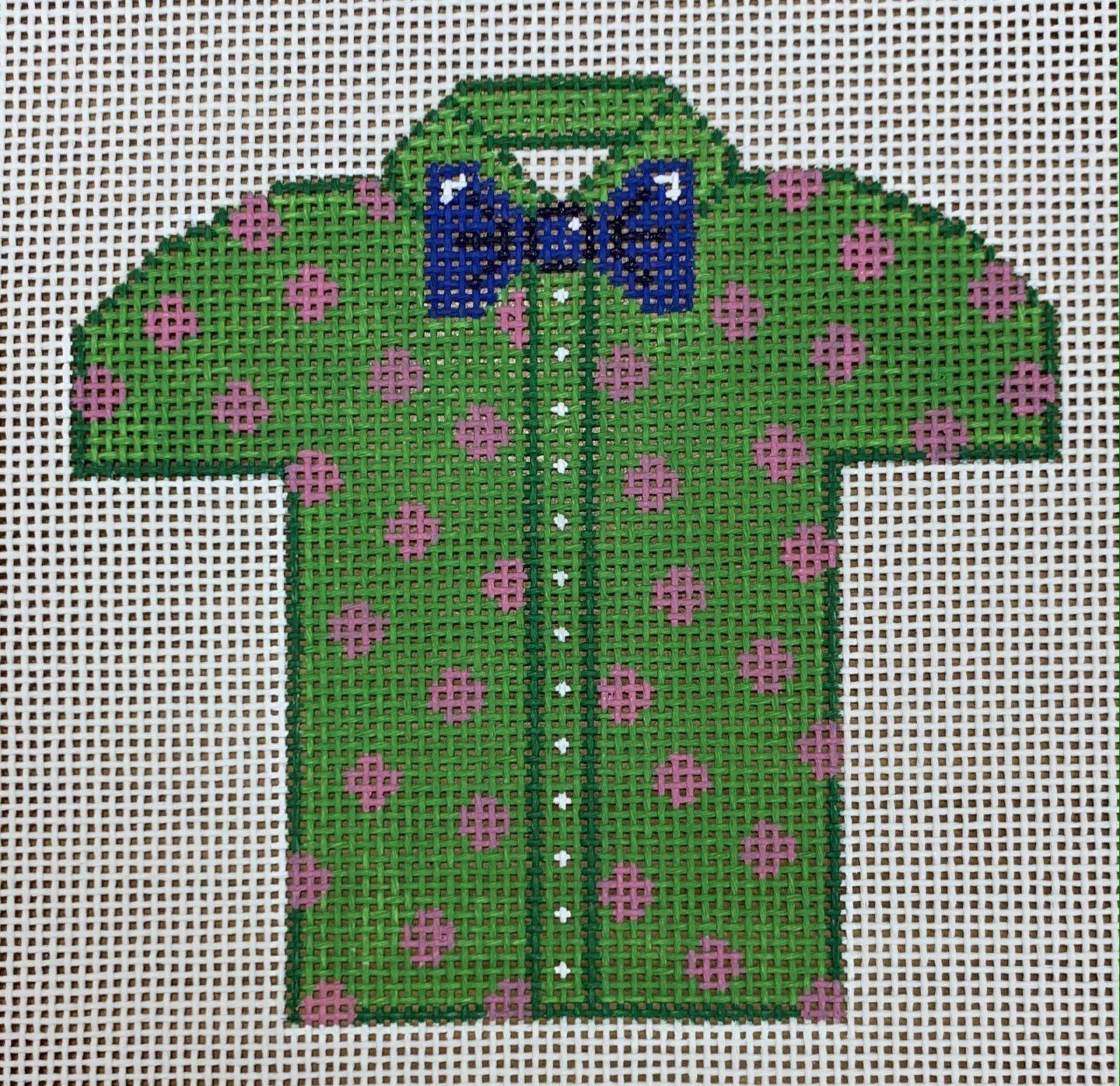 Men's Shirt - Green with Polka Dot
