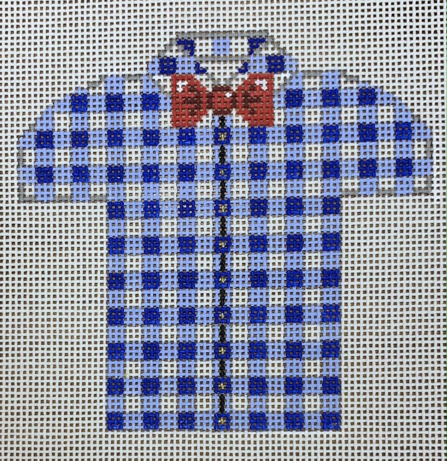 Men's Shirt - Blue & White Gingham