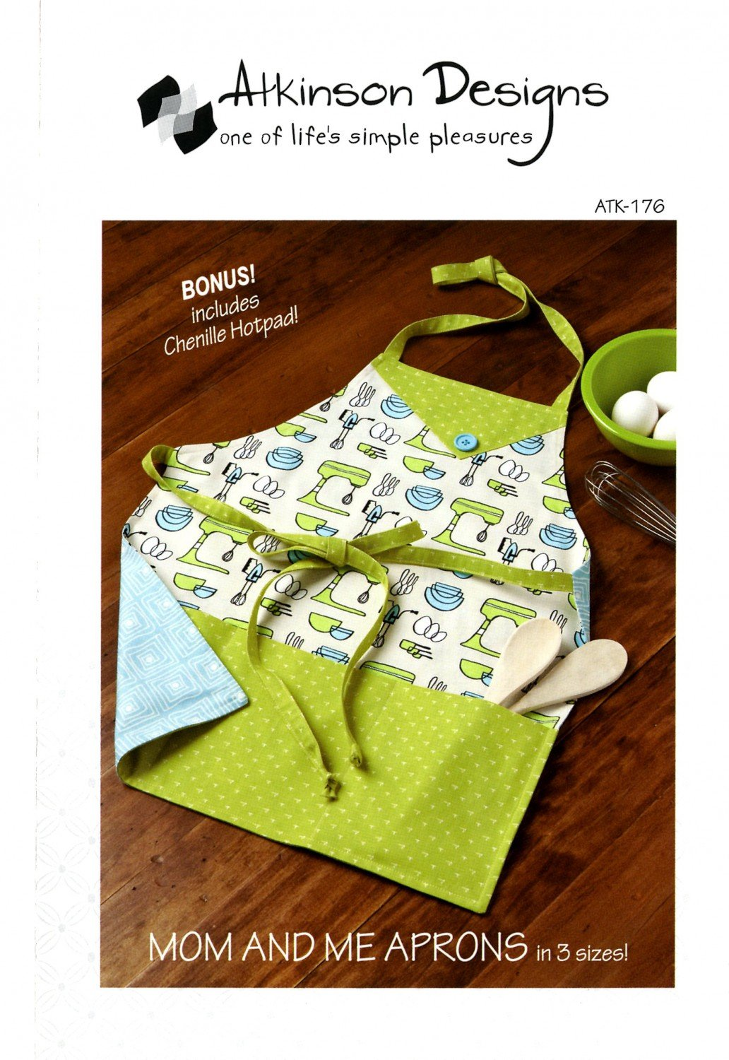 ATKINSON DESIGNS MOM AND ME APRONS IN 3 SIZES