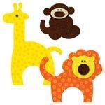 AccuQuilt GO! Zoo Animals - monkey lion giraffe