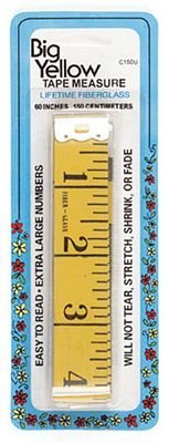 Tape Measure Big Yellow Extra Wide