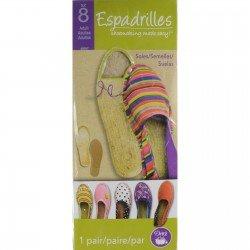 Espadrilles Soles Adult Size 8