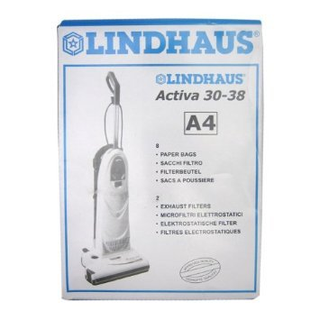 BAGS - LINDHAUS A4  - 8pk - Fits Activa & Diamante