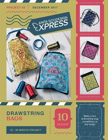 Drawstring Bags - Anita Goodesigns Express projects