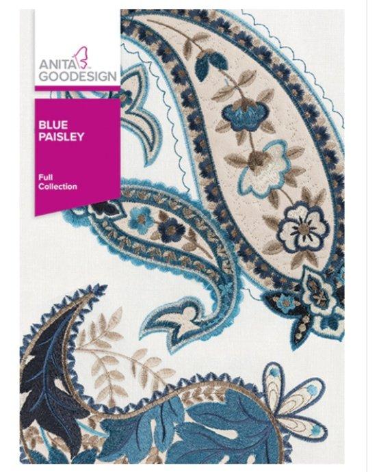 Blue Paisley - Anita Goodesign Full Collection