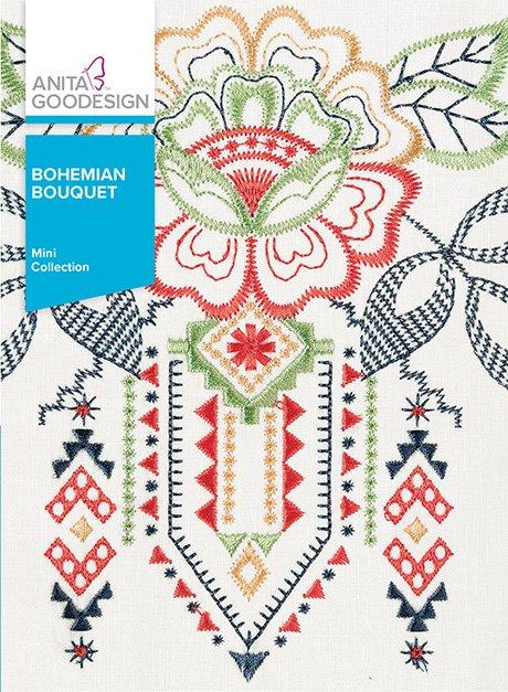 Bohemian Bouquet- Anita Goodesign Mini Collection