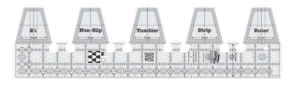 RULER - CREATIVE GRID - SINGLE STRIP TUMBLE