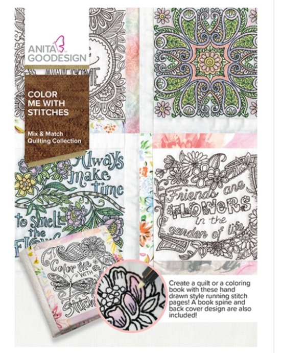 Color Me With Stitches - Anita Goodesign Full Collection