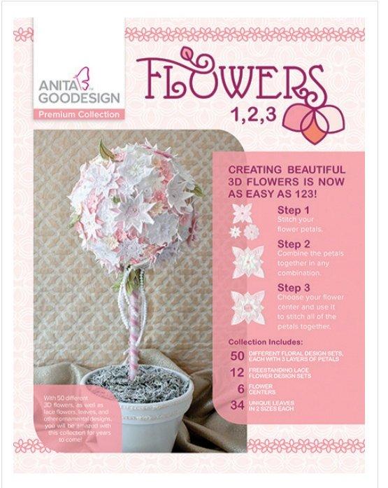 Flowers 1,2,3  - Anita Goodesign PREMIUM