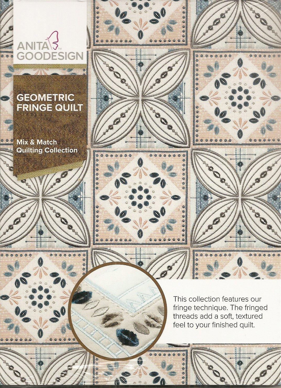 Geometric Fringe Quilt - Anita Goodesign Full Collection