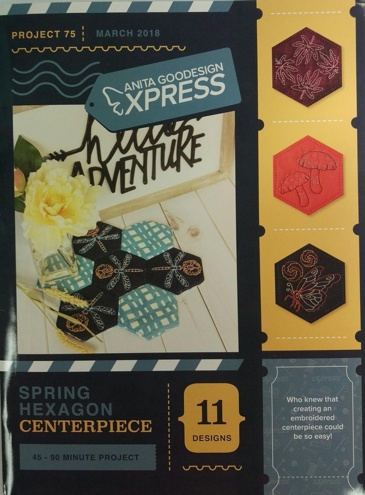 Spring Hexagon - Anita Goodesigns Express projects
