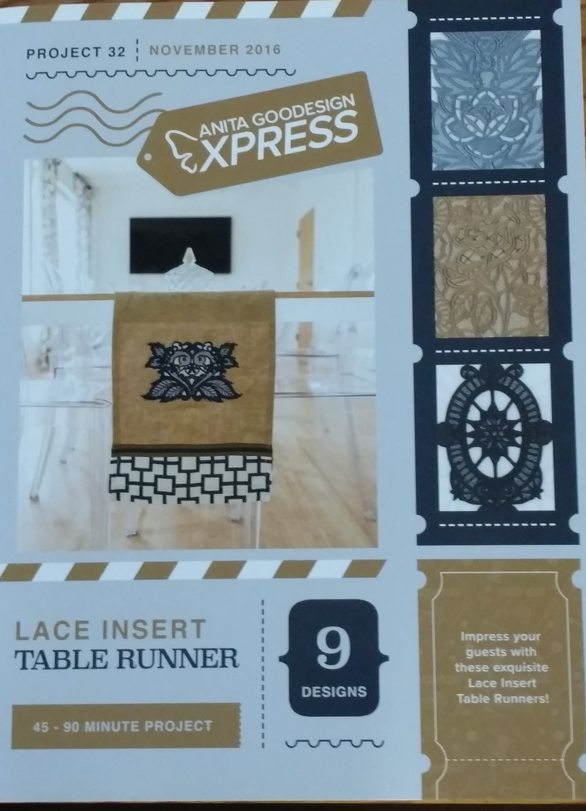 Lace Table Runner - Anita Goodesigns Express projects