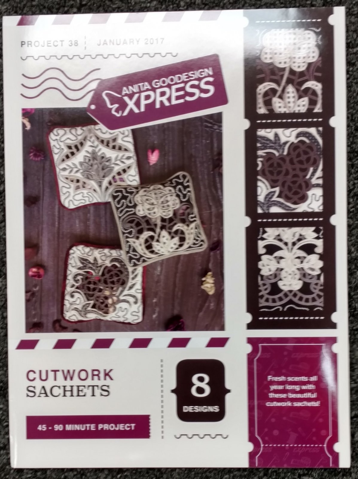 Cutwork Sachets - Anita Goodesigns Express projects