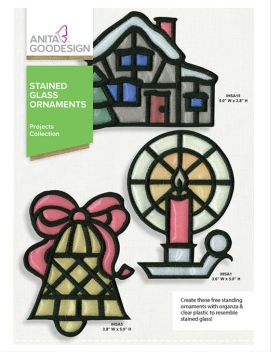 Stained Glass Ornaments - Anita Goodesign IN The Hoop