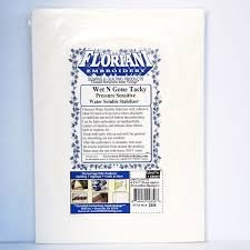 STABILIZER - FLORIANI - WET N GONE TACKY - WATER SOLUBLE - 20 PIECES