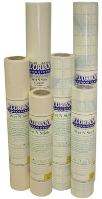 STABILIZER - FLORIANI - WET N STICKY/GRID - TEAR AWAY - 12x10yds