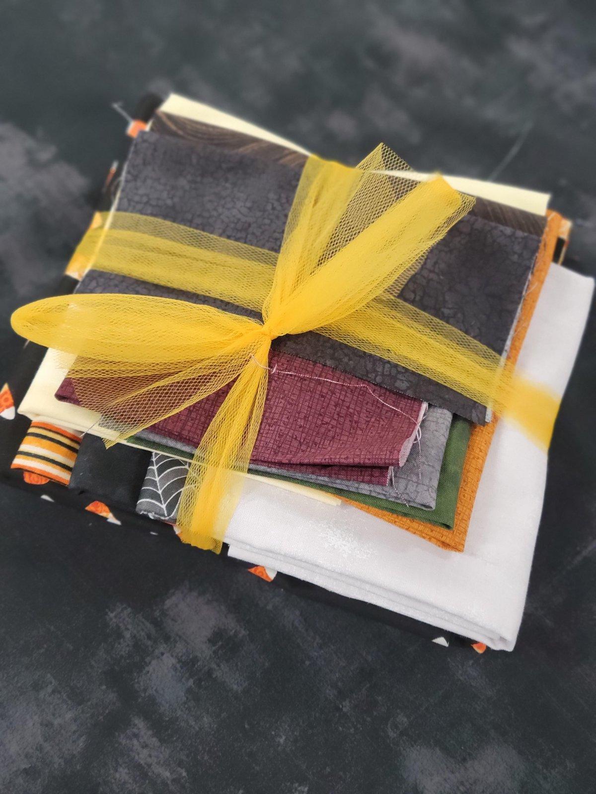 Wonky Haunted Houses Fabric Kit