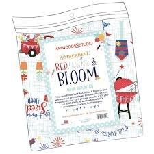 KimberBell Red White & Bloom Backing Kit