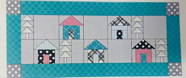 Kimberbell Blue Tile Table Runner Kit
