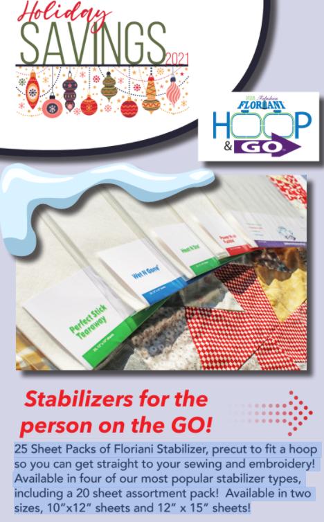 Floriani Pre-Cut Heat N Stay Stabilizer Sheets