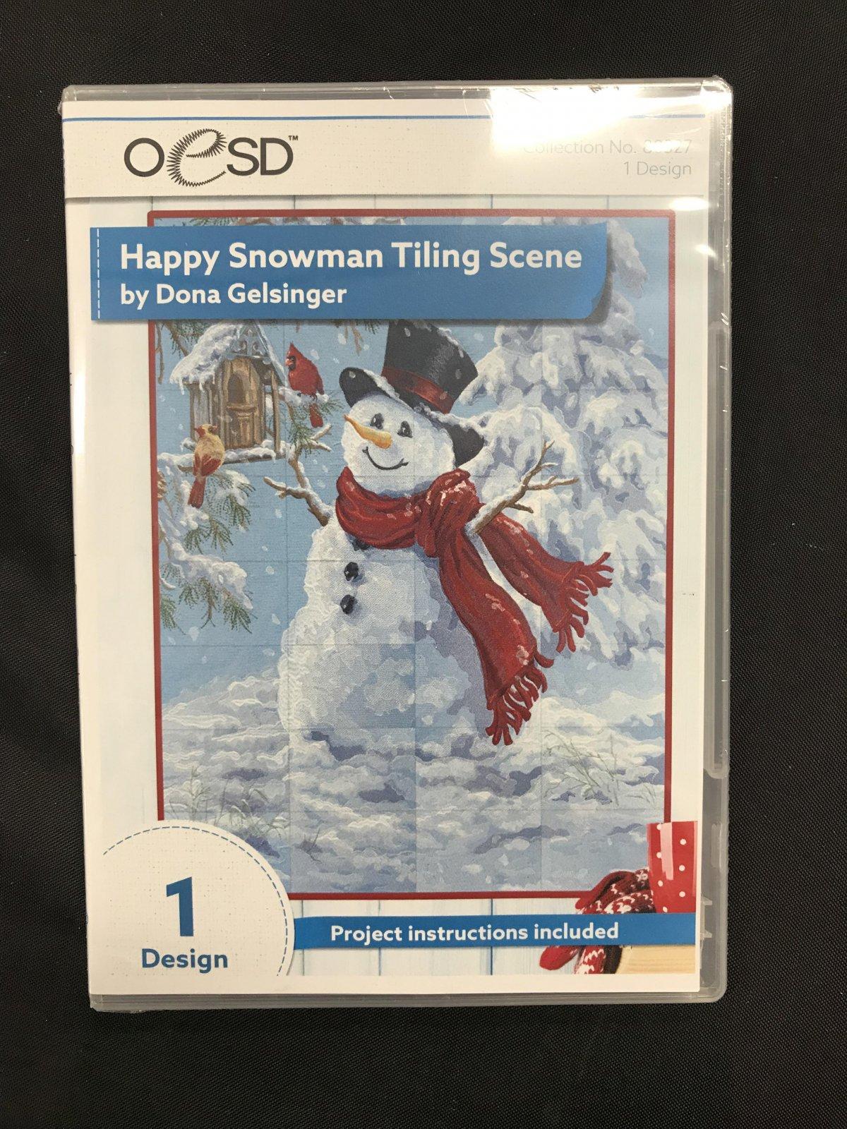 OESD Happy Snowman Tile Scene CD