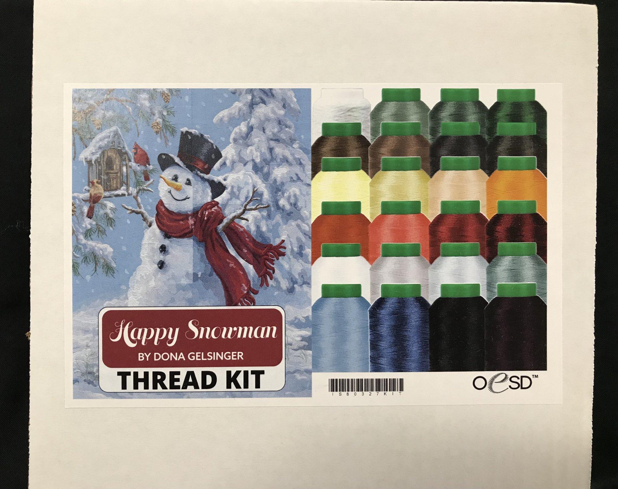 OESD Happy Snowman Tile Scene Thread Kit