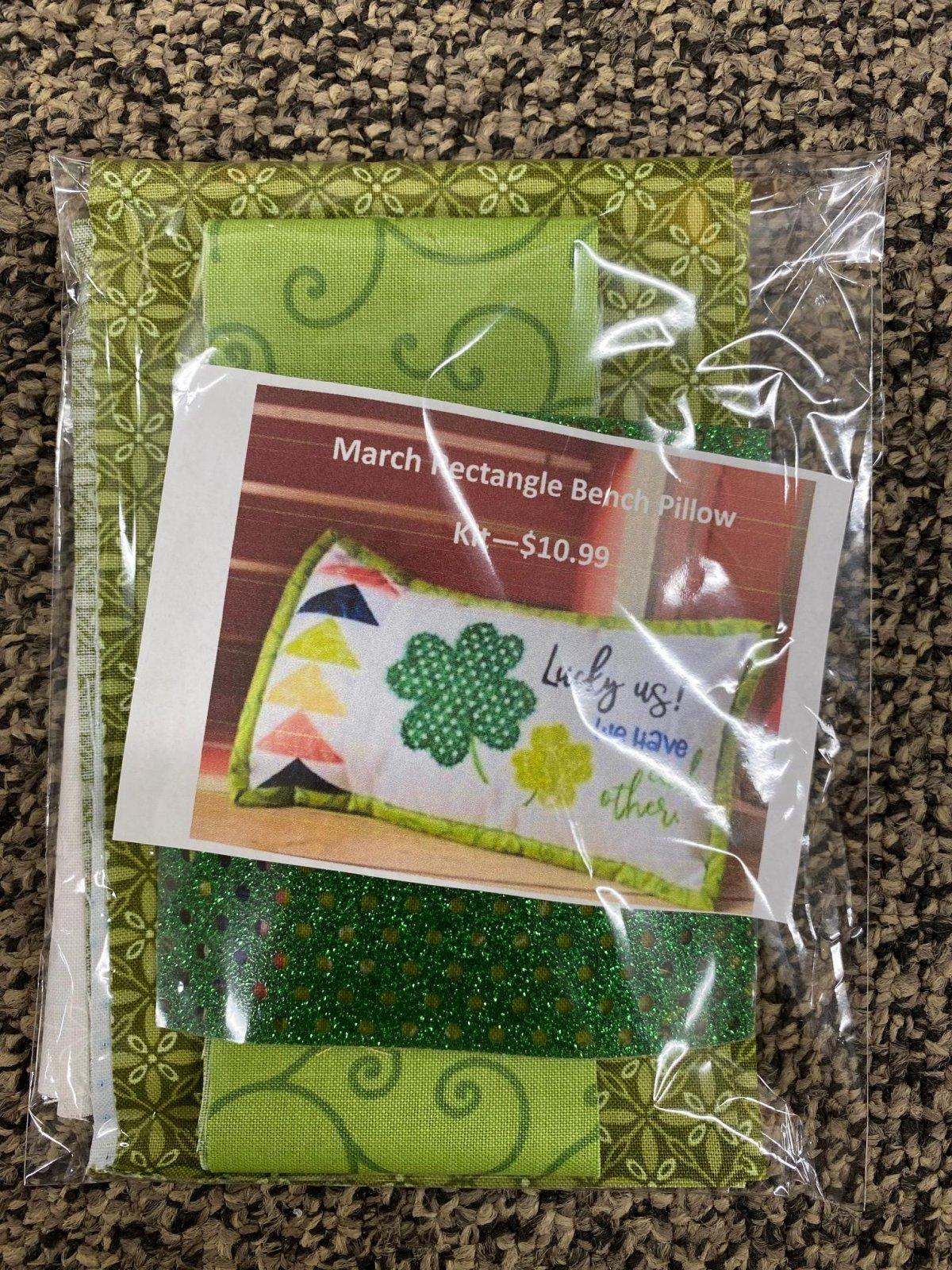 March Rectangle Bench Buddy Fabric Kit