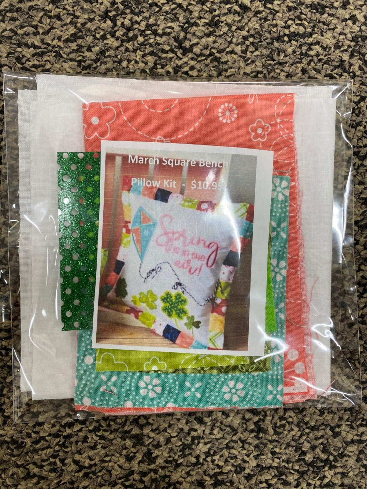 March Square Bench Buddy Fabric Kit