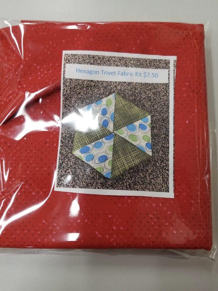 Hexagon Trivet Fabric Kit- Red