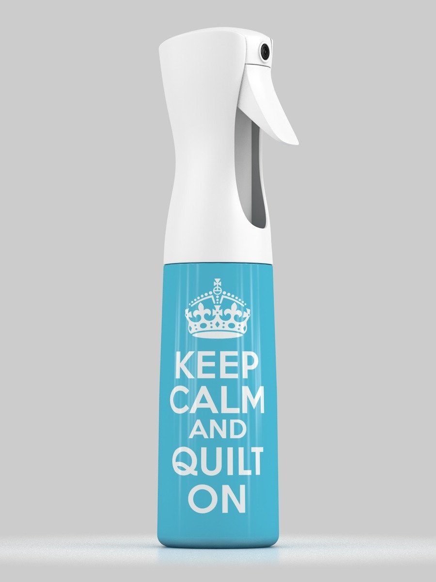 Spray bottle - turquoise with wording