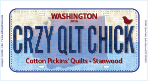 2016 License Plate CRZY QLT CHICK