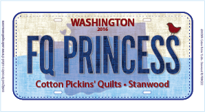 2016 License Plate FQ PRINCESS
