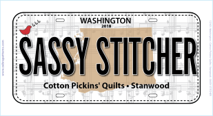 2018 License Plate SASSY STITCHER