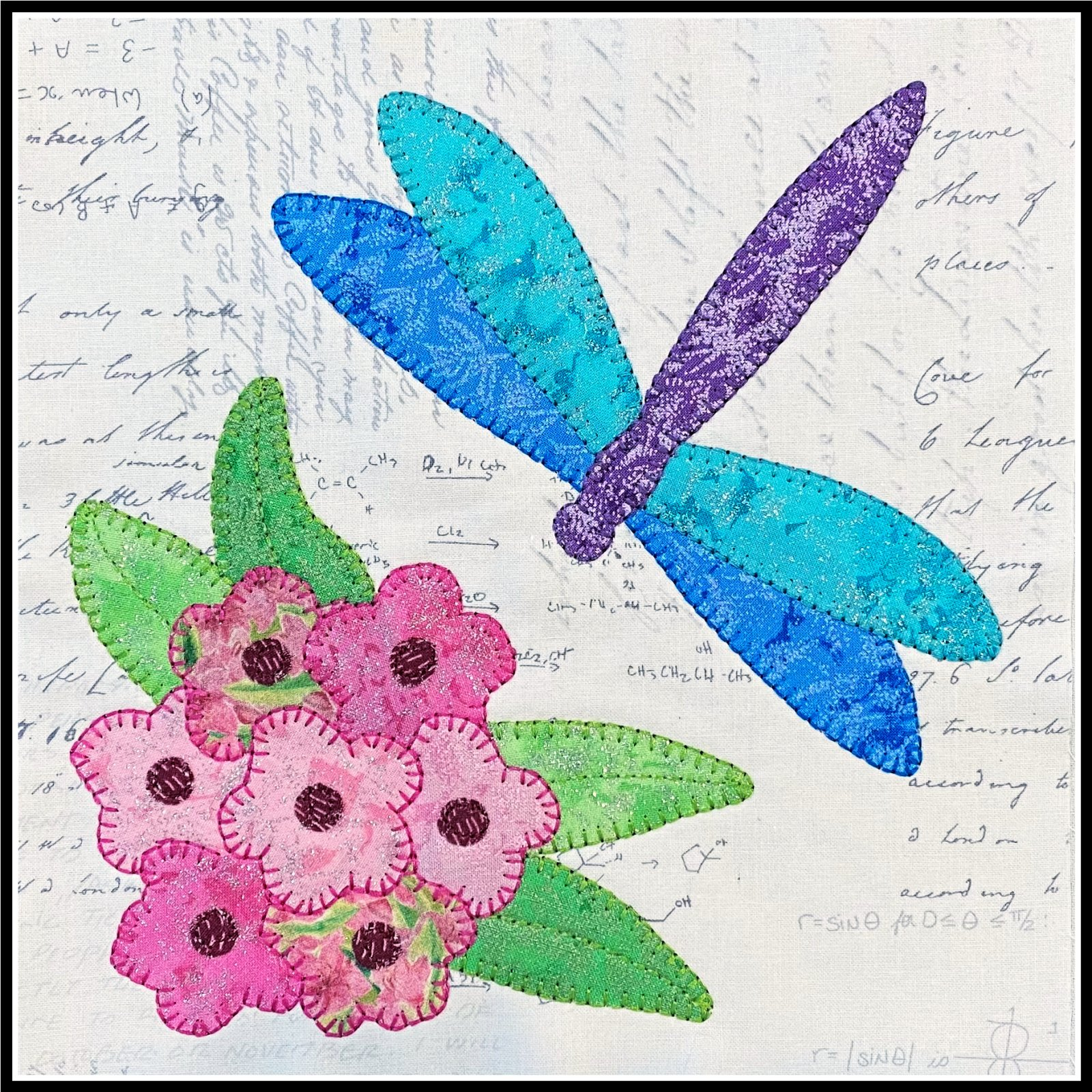 2021 Shop Hop Dragonfly Block Kit and Pattern