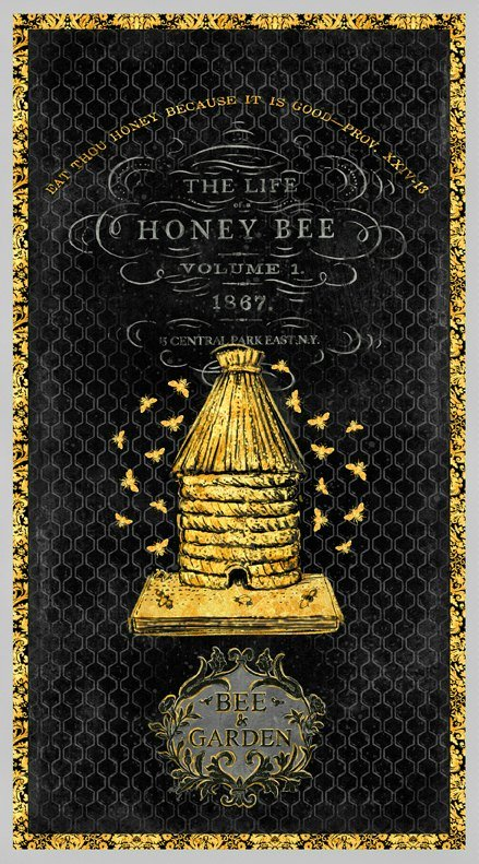 A Bee's Life Quilt Panel