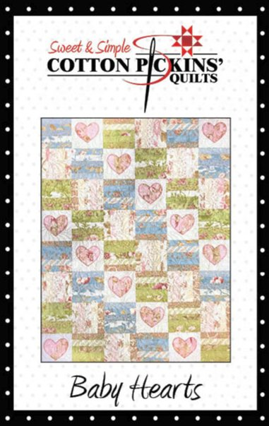 Baby Hearts Quilt Pattern - Printed