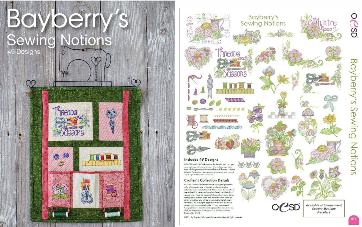 Bayberry Notions Machine Embroidery USB