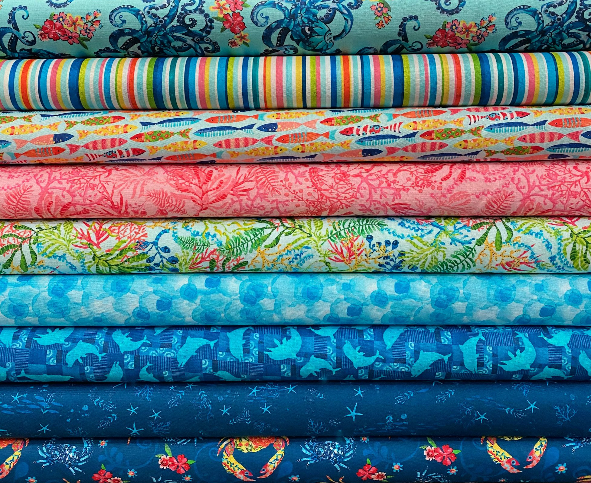 Blooming Ocean - 9 Fat Quarters